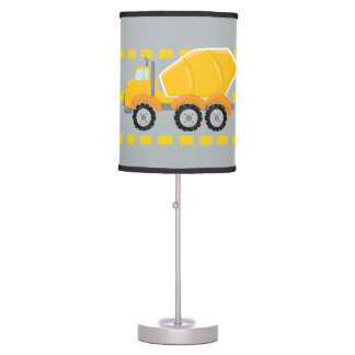 Construction Zone cement truck boys room lamp