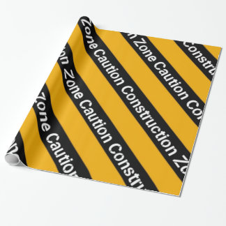 Construction Zone Wrapping Paper