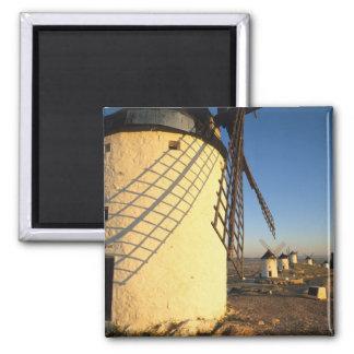Consuegra, La Mancha, Spain, windmills and Square Magnet