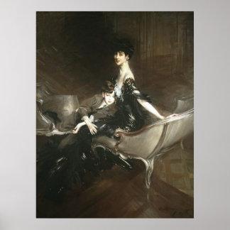 Consuelo Vanderbilt and Son Ivor, Giovanni Boldini Poster