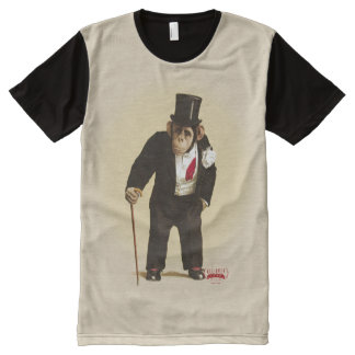 Consul Peter: The Dapper Circus Chimpanzee All-Over-Print T-Shirt