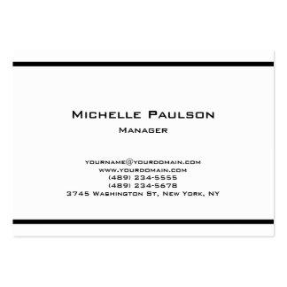 Consultant en matière blanc noir simple potelé de carte de visite grand format