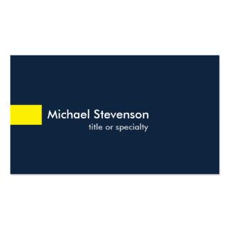 Consultant en matière unique moderne de jaune de carte de visite standard