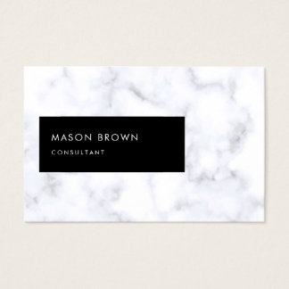 Consultant Profi Modern Elegant White Marble Business Card