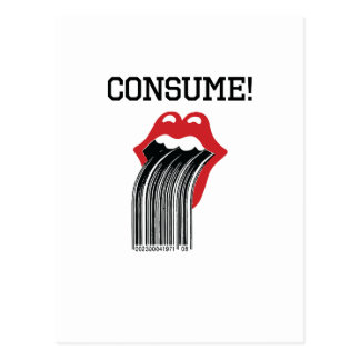 Consume Postcard