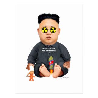 Contact Donald J. Trump Lil Rocket Man postcard