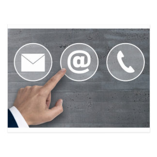 Contact icons e mail newsletter phone concept postcard