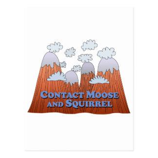 Contact Moose and Squirrel - Dark Postcard