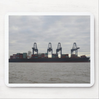 Container Dock At Dawn Mouse Pad