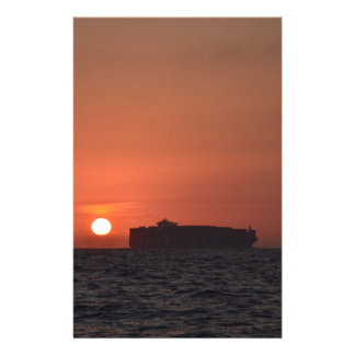 Container Ship At Dusk Stationery