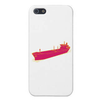 Container Ship Cargo Boat Mono Line iPhone 5/5S Cases