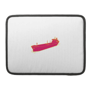Container Ship Cargo Boat Mono Line MacBook Pro Sleeves