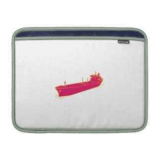 Container Ship Cargo Boat Mono Line MacBook Sleeve