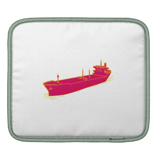 Container Ship Cargo Boat Mono Line Sleeve For iPads