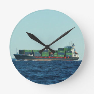 Container Ship Wall Clocks