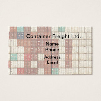 Container Shipping and Freight Business Card