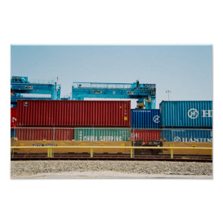 Containers in Port Poster