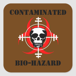 Contaminated Bio-Hazard Sticker