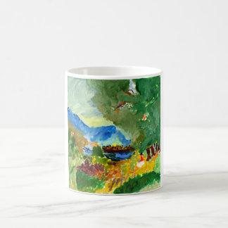 Contemplating paradise mug