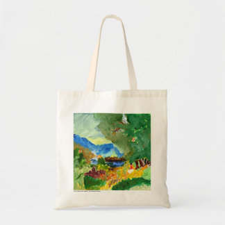 Contemplating paradise tote bag