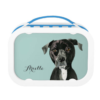 """Contemplating"" Pit Bull Dog Painting Lunch Box"