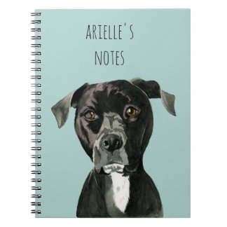 """Contemplating"" Pit Bull Dog Painting Notebooks"