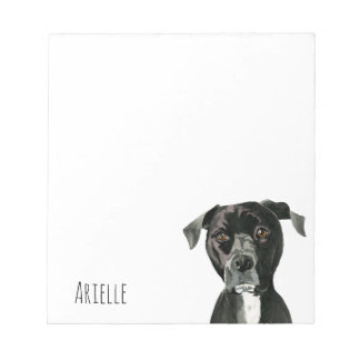 """Contemplating"" Pit Bull Dog Painting Notepad"