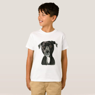 """Contemplating"" Pit Bull Dog Painting T-Shirt"