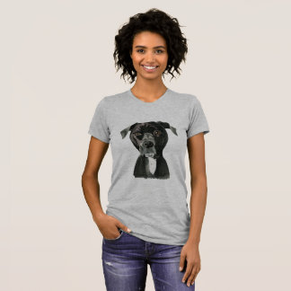 """""""Contemplating"""" Pit Bull Dog Painting T-Shirt"""