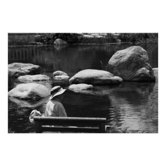 Contemplation, Big Springs Gardens Poster