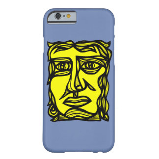 """Contemplation Face Yellow Black"" Phone Case"