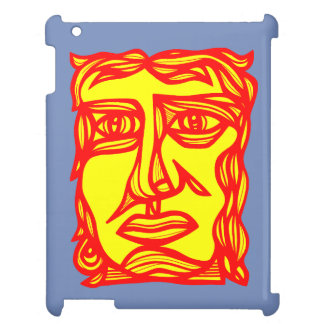 """Contemplation Face Yellow Red"" iPad Case"