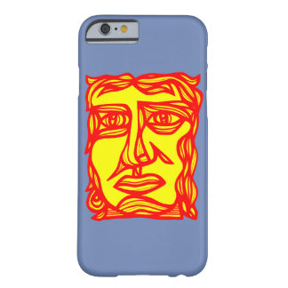 """Contemplation Face Yellow Red"" Phone Case"
