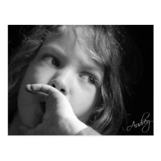 Contemplative Child Postcard