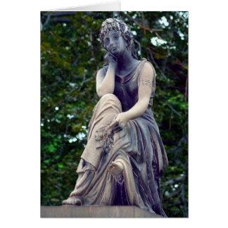 Contemplative Goddess Greeting Card