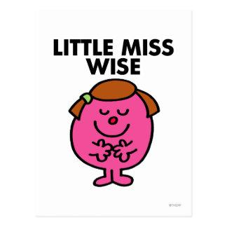 Contemplative Little Miss Wise Postcard
