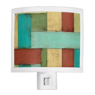 Contempoary Coastal Multicolored Painting Night Lites