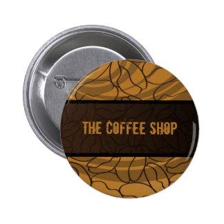 Contemporain, amusement et grain de café coloré macaron rond 5 cm