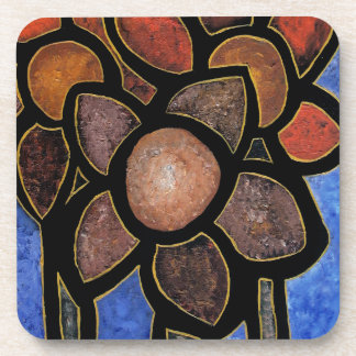 Contemporary Abstract Flower Coaster