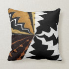 Contemporary African Graphic Print Throw Pillow