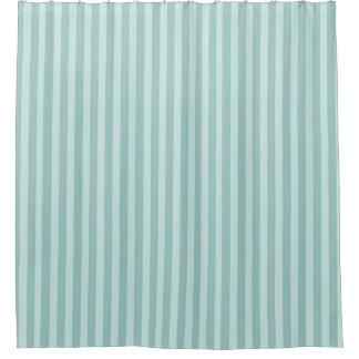 Contemporary Aqua Striped Shower Curtain