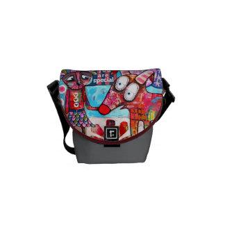 Contemporary Art Handbag Messenger Bag