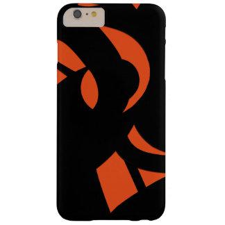 Contemporary Art Orange / Black Barely There iPhone 6 Plus Case