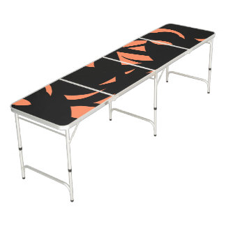 Contemporary Art Orange / Black Beer Pong Table