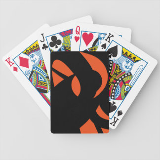 Contemporary Art Orange / Black Bicycle Playing Cards