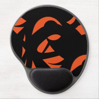 Contemporary Art Orange / Black Gel Mouse Pad