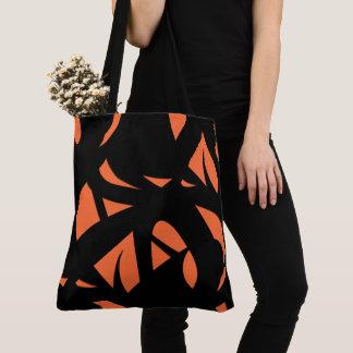 Contemporary Art Orange / Black Tote Bag