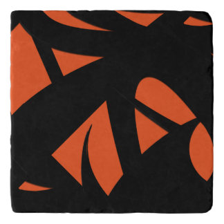 Contemporary Art Orange / Black Trivet