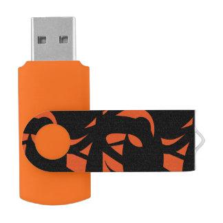 Contemporary Art Orange / Black USB Flash Drive