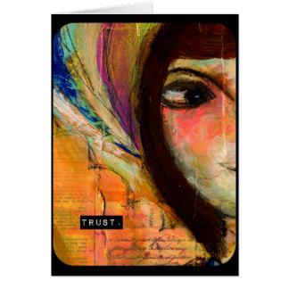 contemporary art print card